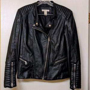 H&M Faux Leather Jacket Size 10
